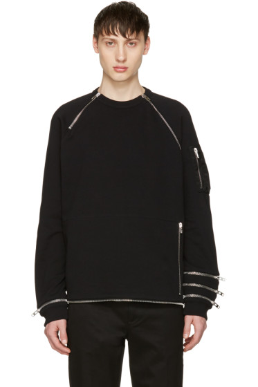 Givenchy - Black Zip Pullover