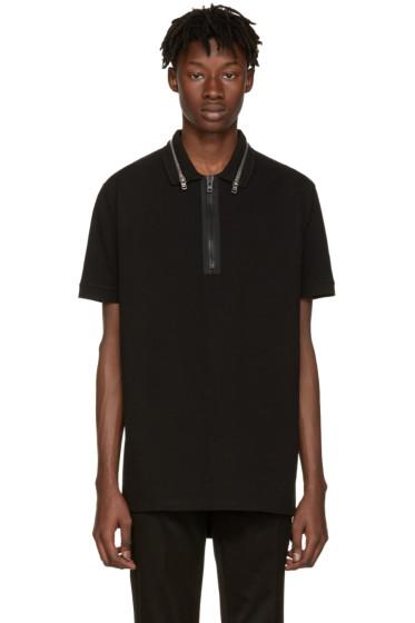 Givenchy - Black Zip Collar Polo