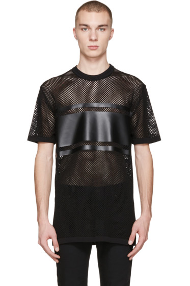 Givenchy - Black Mesh T-Shirt