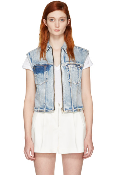 3.1 Phillip Lim - Indigo Denim Zip Vest