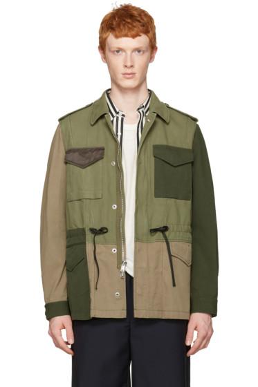 3.1 Phillip Lim - Green Patchwork Field Jacket