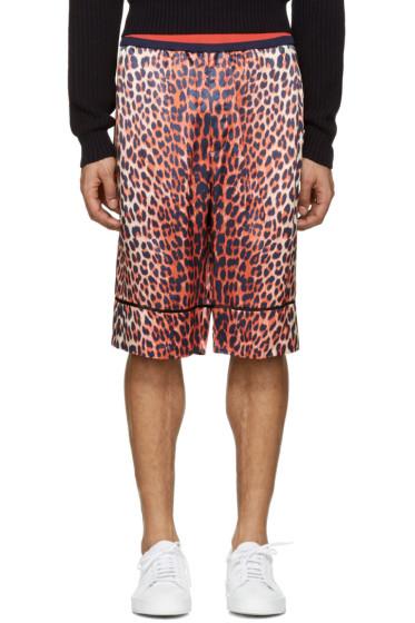 3.1 Phillip Lim - Reversible Orange Leopard Shorts