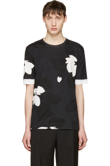 3.1 Phillip Lim - Black Floral T-Shirt