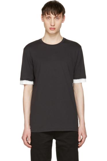 3.1 Phillip Lim - Black Double Sleeve T-Shirt