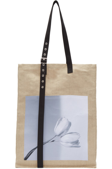 Raf Simons - Beige Robert Mapplethorpe Edition Extreme Big Tulips Tote