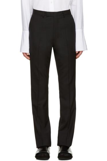 Raf Simons - Black Wool Flared Trousers