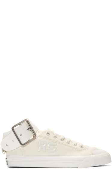 Raf Simons - White adidas Originals Edition Spirit Buckle Sneakers