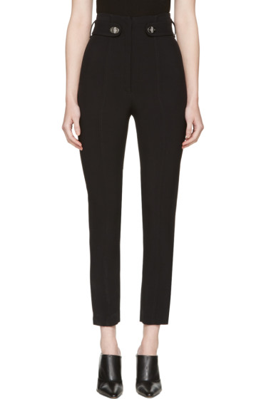 Proenza Schouler - Black Pencil Leg Trousers