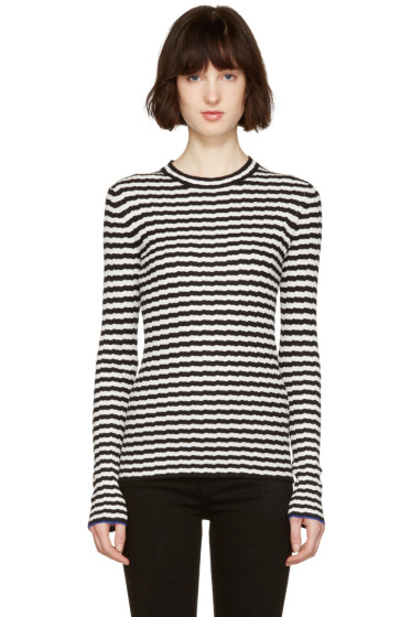Proenza Schouler - Black & White Striped Pullover