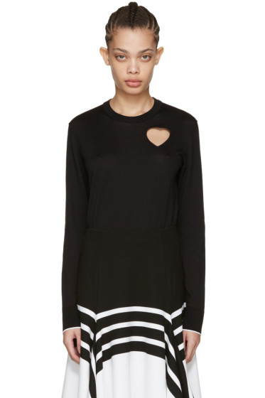 Proenza Schouler - Black Heart Cut-Out Pullover