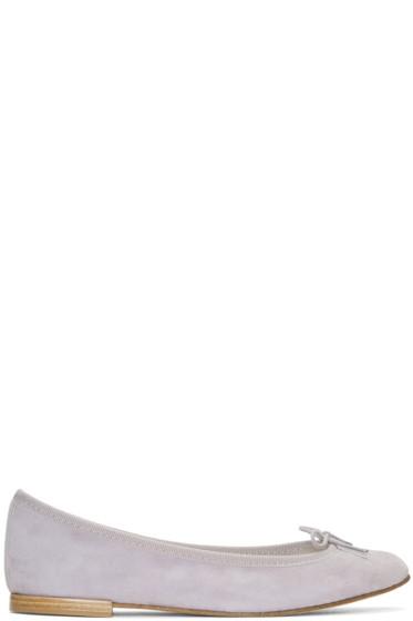 Repetto - Grey Suede Cendrillon Ballerina Flats