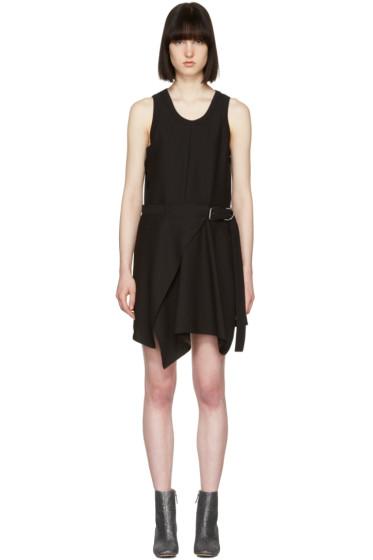Carven - Black Buckle Dress