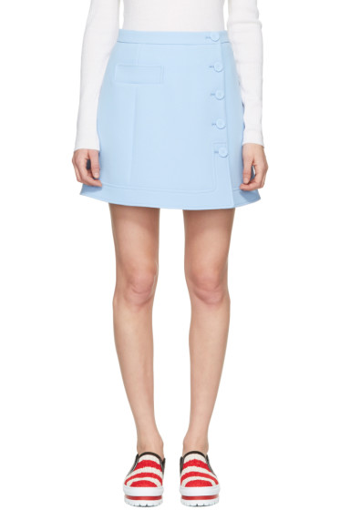 Carven - Blue Button Miniskirt