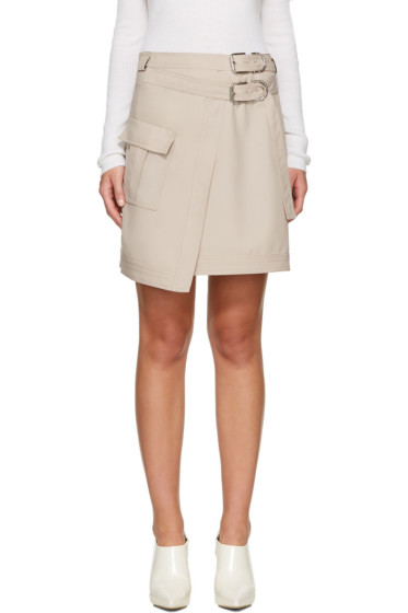Carven - Beige Asymmetric Pocket Miniskirt
