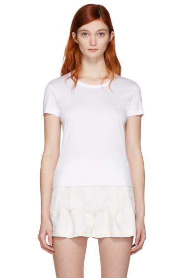 Carven - White Lace Detail T-Shirt