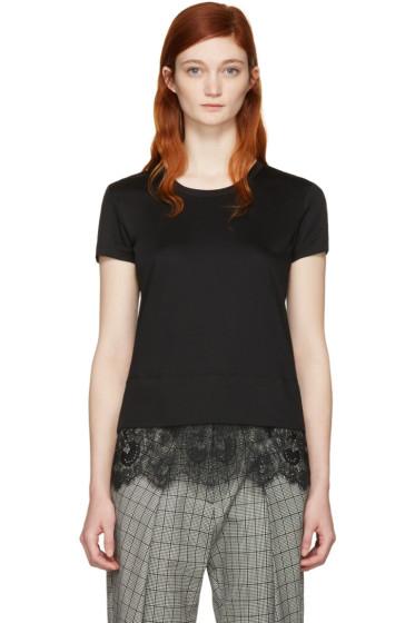Carven - Black Lace Detail T-Shirt