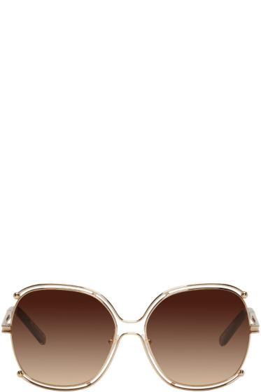 Chloé - Rose Gold Round Sunglasses