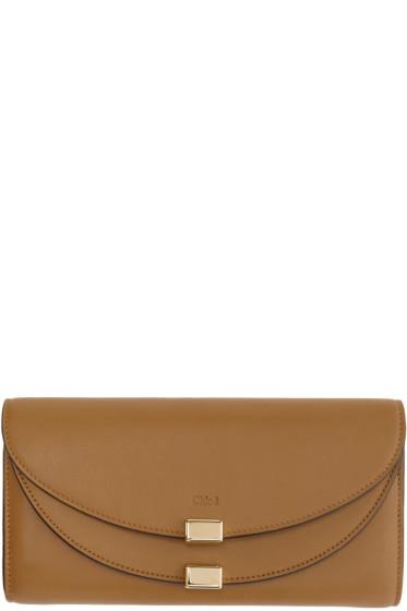 Chloé - Brown Long Georgia Wallet