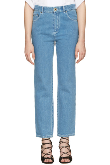 Chloé - Blue Scalloped Jeans
