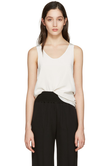 Chloé - White Silk Top