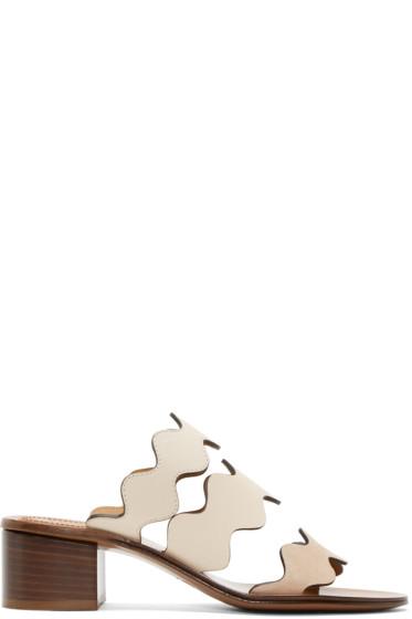 Chloé - Ivory & Beige Lauren Heeled Sandals