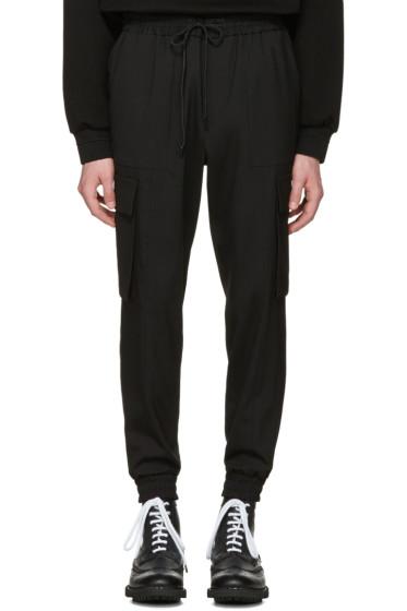 Juun.J - Black Drawstring Cargo Trousers