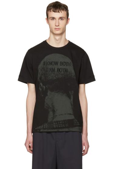Juun.J - Black 'I Know Both I Am Both' T-Shirt