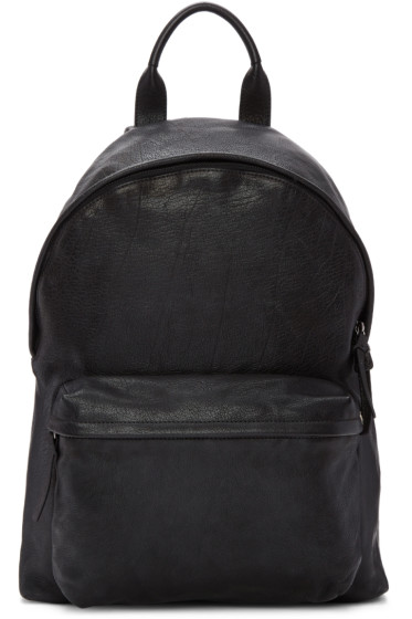 Officine Creative - Black Leather Backpack