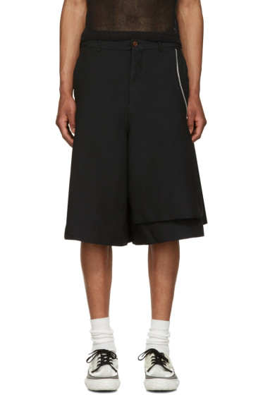 Comme des Garçons Homme Plus - Black Side Zip Shorts