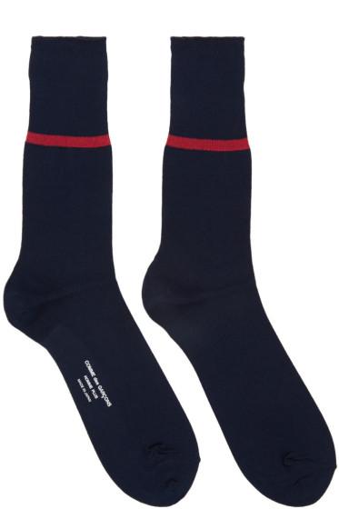 Comme des Garçons Homme Plus - Navy Stripe Socks
