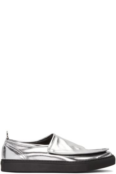 Comme des Garçons Homme Plus - Silver Metallic Velcro Sneakers