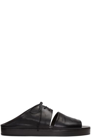 Marsèll - Black Gradone Sandals