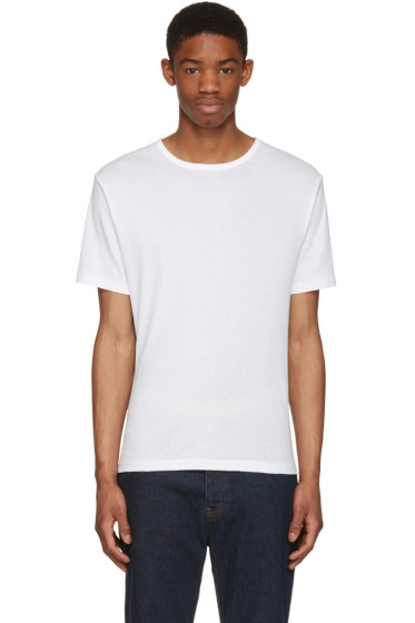 BLK DNM - White Classic Fitted Greaser 43 T-Shirt