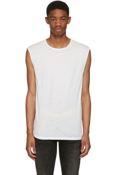 BLK DNM - White Relaxed Muscle 57 T-Shirt
