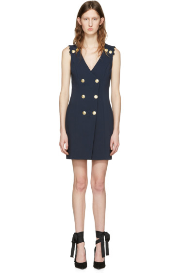 Pierre Balmain - Navy Double-Breasted Dress
