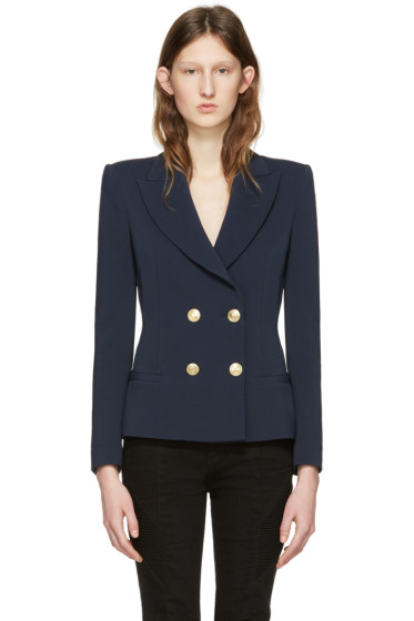 Pierre Balmain - Navy Classic Fitted Blazer