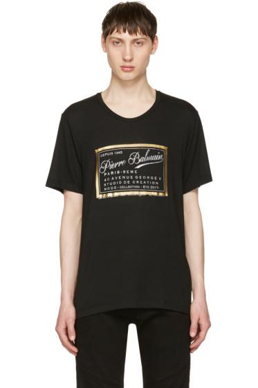 Pierre Balmain - Black Logo Print T-Shirt