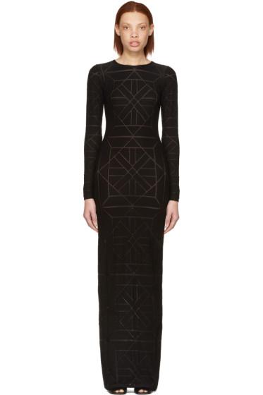 Gareth Pugh - ブラック ロング タイル ドレス