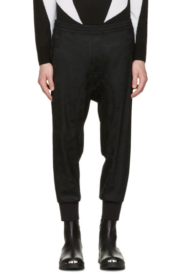 Neil Barrett - Black Wool Camo Slouch Trousers
