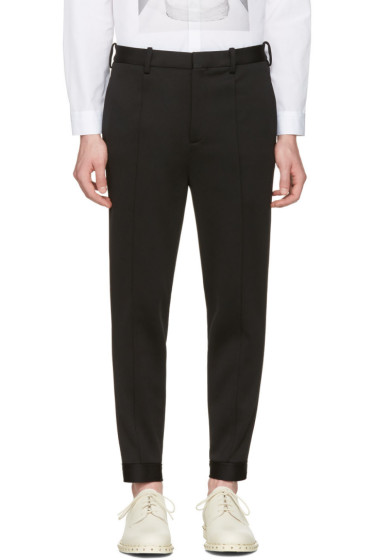 Neil Barrett - Black Double Bonded Tech Trousers