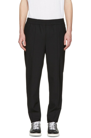 Neil Barrett - Black Stretch Gabardine Trousers