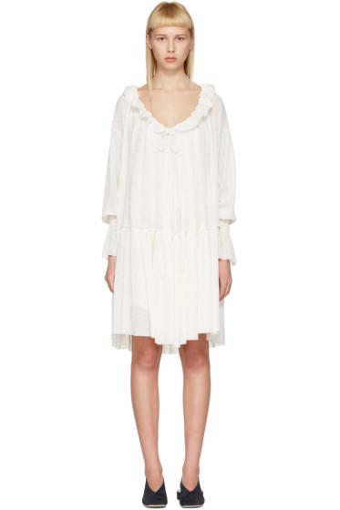 See by Chloé - Off-White Gauze Jersey Dress