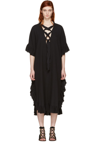 See by Chloé - Black Cotton Ruffle Dress
