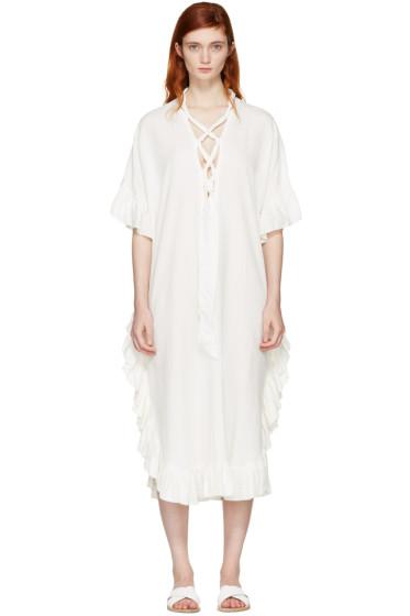 See by Chloé - White Cotton Ruffle Dress