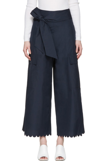 See by Chloé - Navy Belted Culottes