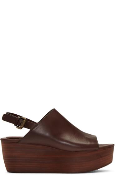 See by Chloé - Brown Romy Platform Sandals
