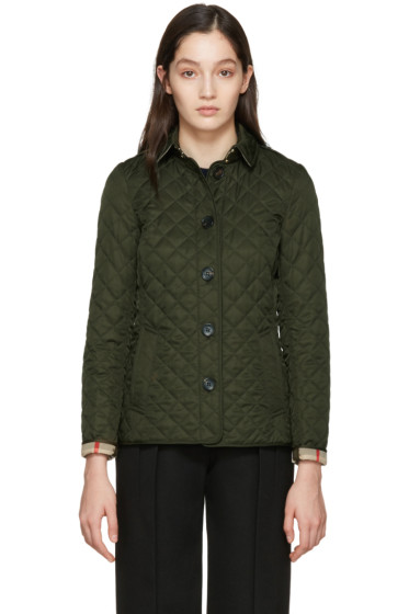 Burberry - Green Diamond Quilted Ashurst Jacket