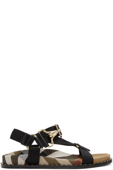Burberry - Black House Check Ardall Sandals