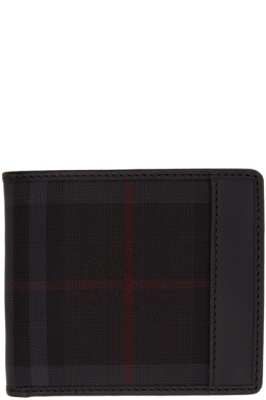 Burberry - Black Horseferry Check Wallet