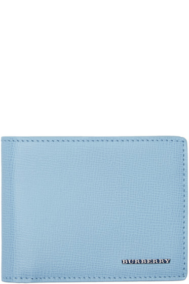 Burberry - Blue Hipfold Wallet